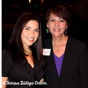 With Actress America Ferrera at UAB Lecture Series in 2011