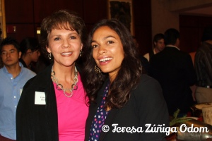 With Actress Rosario Dawson at UAB in 2012 for the UAB Lecture Series.