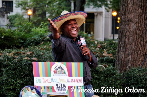 Jeh Jeh Pruitt gets into the first Fiesta segment on Fox 6 News!  He really liked that sombrero!