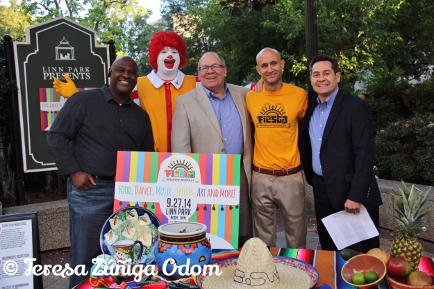 Fox 6 news coverage of Fiesta with Jeh Jeh Pruitt, Matt Ennis (Fiesta Board President), and Birmingham McDonald's owners, Santiago and Russell Negre...and of course, Ronald McDonald!