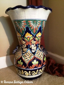 "My ""Hey Lady"" Talavera Pottery Vase from TJ Maxx."