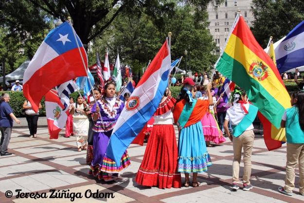 The Hispanic Girl Scouts of North Central Alabama presented the flags of the Latin American countries at the opening of Fiesta last year.