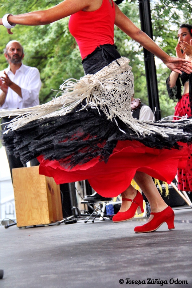 Flamenco dancing on the Coca-Cola Main Stage at Fiesta 2014.