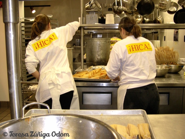 HICA Volunteers making tamales one year in partnership with the Culinard.
