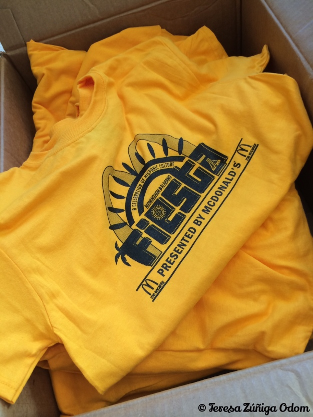 Fiesta Board and Volunteer Shirts for 2014 - the color definitely made us all stand out in crowds!