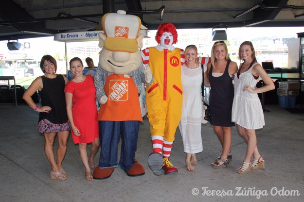 Ronald McDonald posed for pictures with fans and The Home Depot mascot made an appearance too!