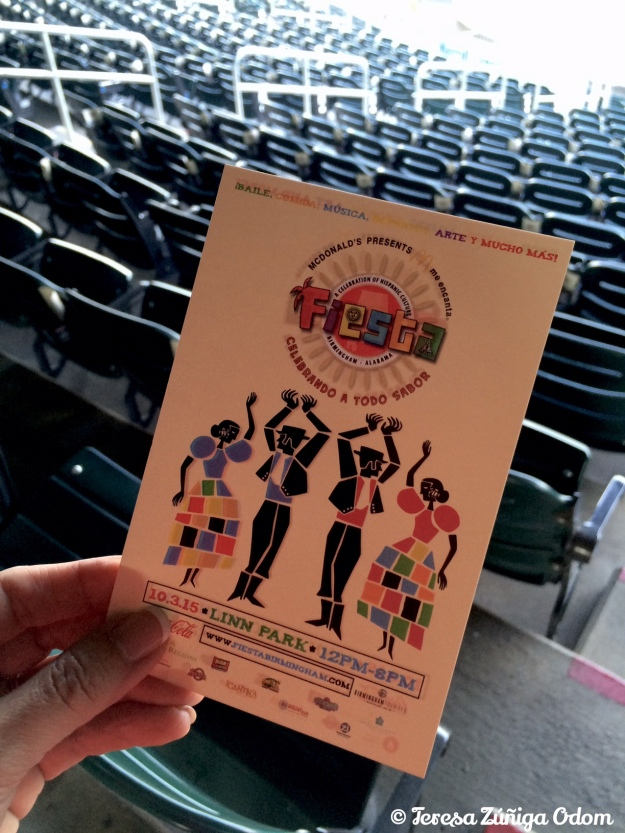These Fiesta flyers were placed in every cup holder at Regions Field.