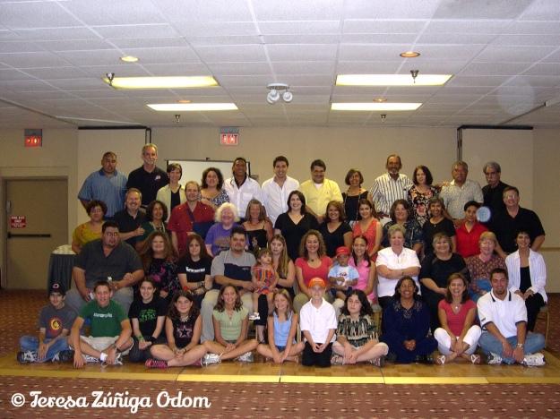 La Familia Zuniga at our 2003 family reunion in Albuquerque, NM...