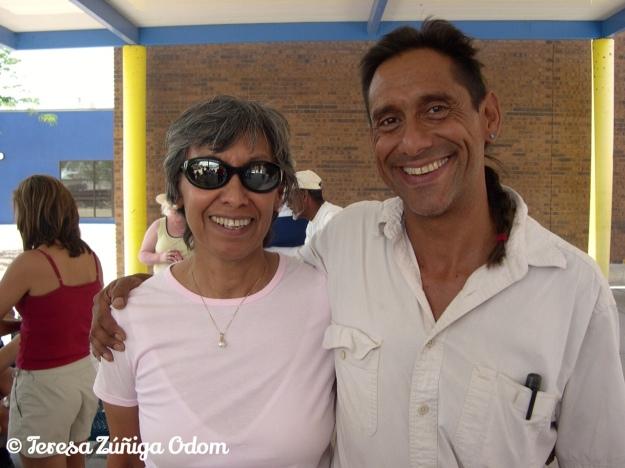 Chila with her little brother, Ricardo Zuniga.