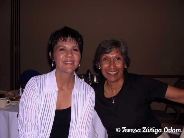 Me with Chila at our reunion in 2003.
