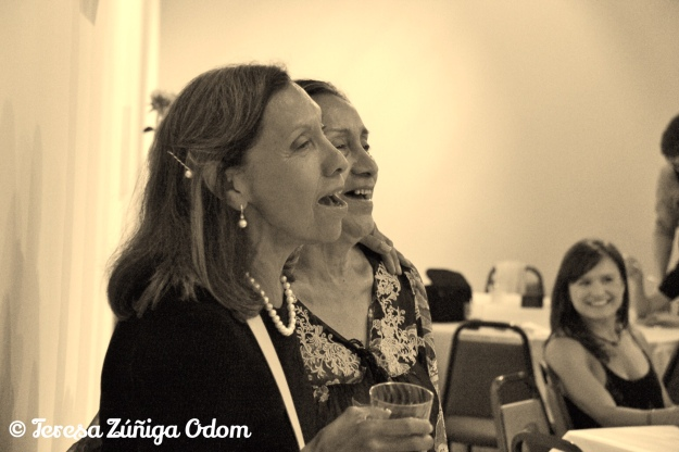 Chila and Boogie sing with the Mariachi at our Zuniga family reunion dinner in 2013.
