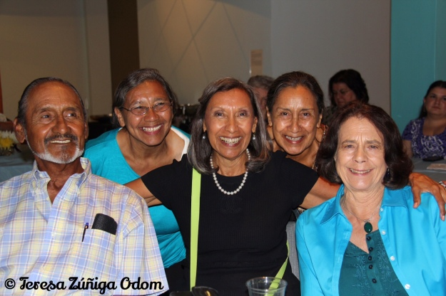 Chila - the oldest of 8 children of Lorenzo and Anita Zuniga - here with her brother Lorenzo Jr. (Boy), sisters Boogie and Wiro (Hortencia) and sister-in-law, Maria Varela.