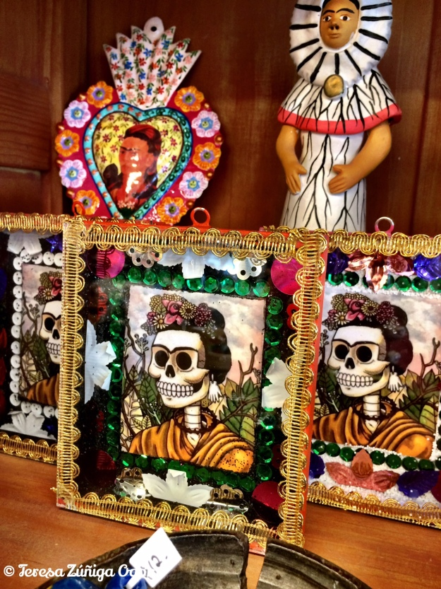 The Frida Kahlo display at Tesoros in Austin, Texas