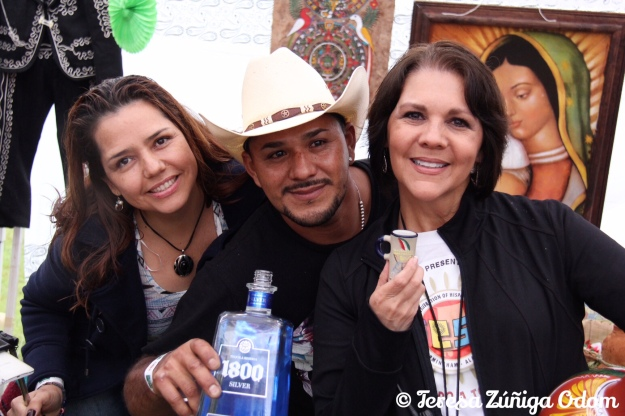 With Maria and Luis at the Mexico booth toasting to a wonderful event with a tequila shot!  Salud!
