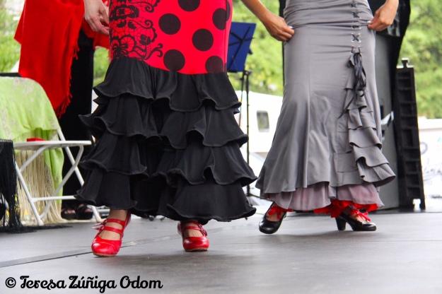 Mosaico Flamenco performs on the Fiesta Coca Cola Main Stage