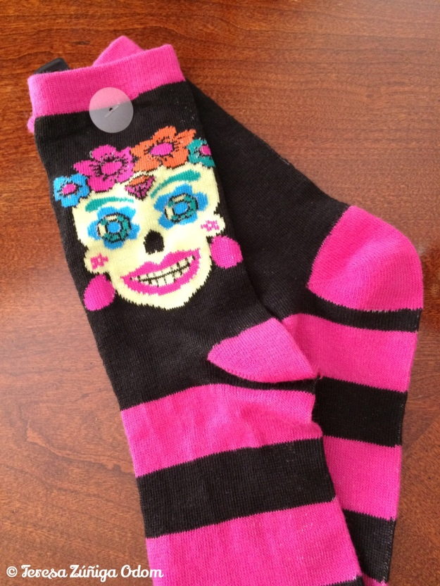 I'll be wearing these Target glow in the dark Sugar Skull socks to our local Day of the Dead festival this year!