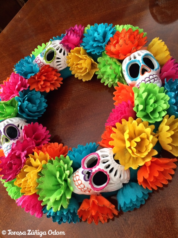 Sugar Skull wreath from Target.