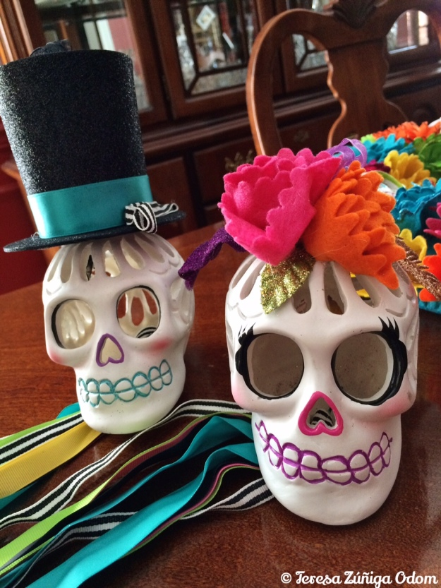 Mr. and Mrs. Sugar Skull! Found at Target this year.
