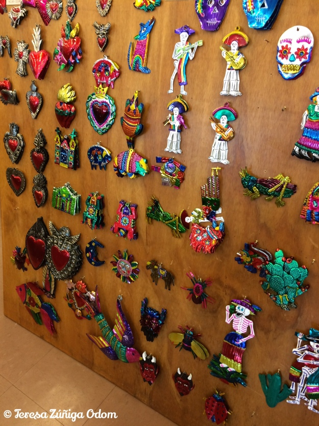 Mexican tin Christmas ornaments...this was just side one!