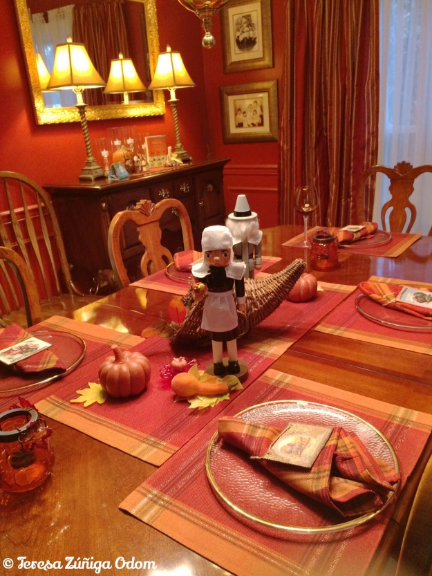 Our Thanksgiving table is set!