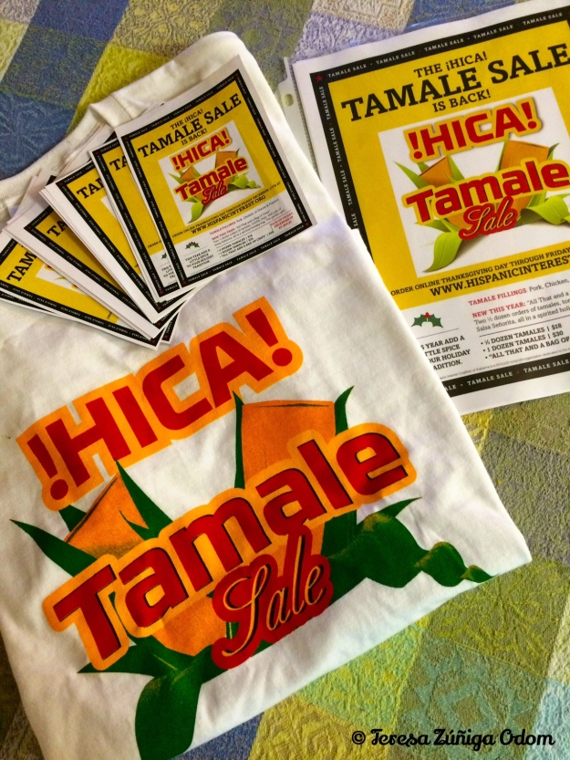 Ready to wear my HICA Tamale Sale t-shirt for tamale pick up day on December 18th!  Buy some tamales and come by and see me!