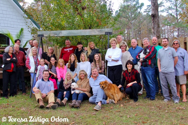 Odom Thanksgiving gathering 2015 in Jasper, AL...