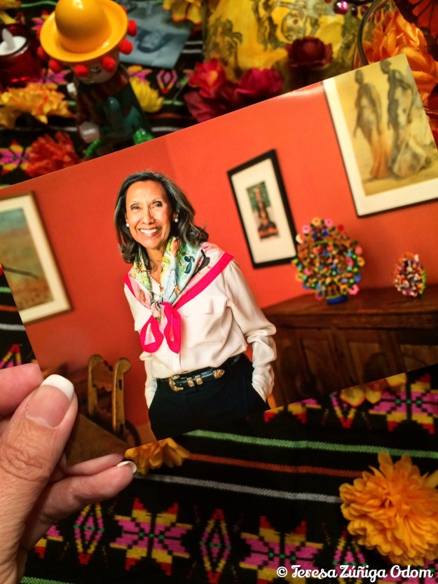 My cousin, Chila - Orcilia Zuniga Forbes - who passed away suddenly a few months ago.  I love this photo of her that is on the Meyers Trust website in tribute to her service on this foundation.