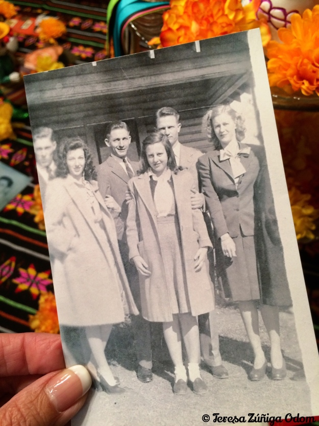 A copy of a photo of the some of the Wilson children...front and center is my mother-in-law, Johnnie.  Behind her are her brothers Jim and Bob and to her right is her sister Joyce.  Uncle Jim was the last remaining Wilson sibling and he passed away this October.
