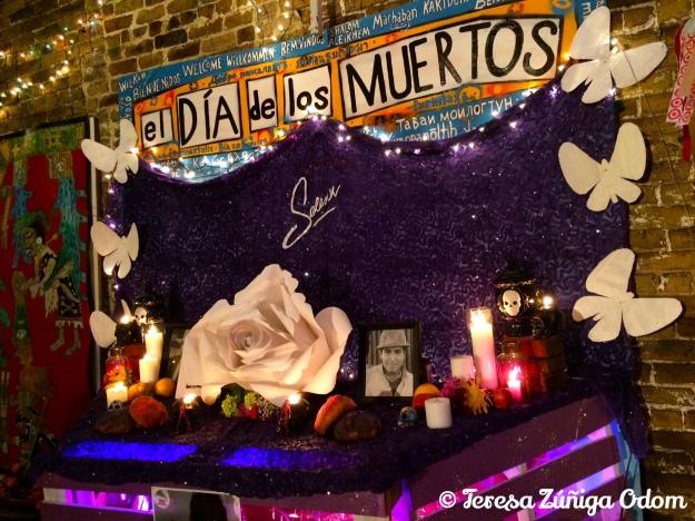 Altar by Robert Hernandez dedicated to Tejana Musician Selena was a popular stop at Dia de los Muertos Birmigham 2015.