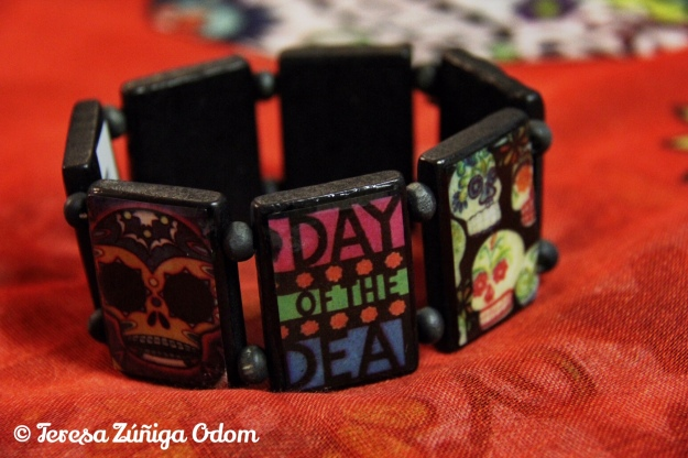 Day of the Dead bracelet I found at the airport gift shop in Albuquerque, NM.