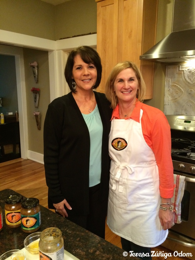Photo opp with Lori after our salsa slaw segment.