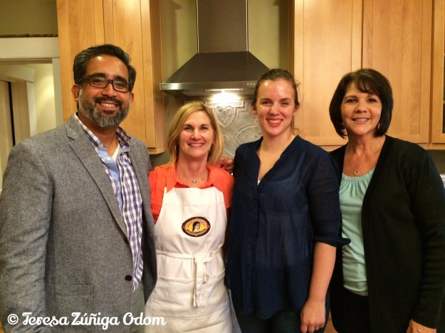 Carlos Aleman, Lori Sours, Clementine Tufts and myself at the HICA tamale sale video filming this month.