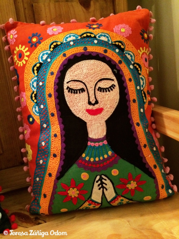 Virgin Mary pillow from Earthbound Trading Co.
