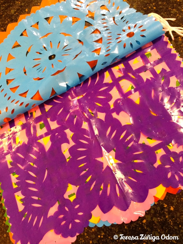 Plastic papel picado...good for outdoor use!