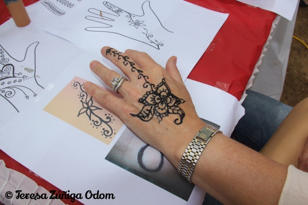 One of the beautiful henna tattoos I saw at the festival.
