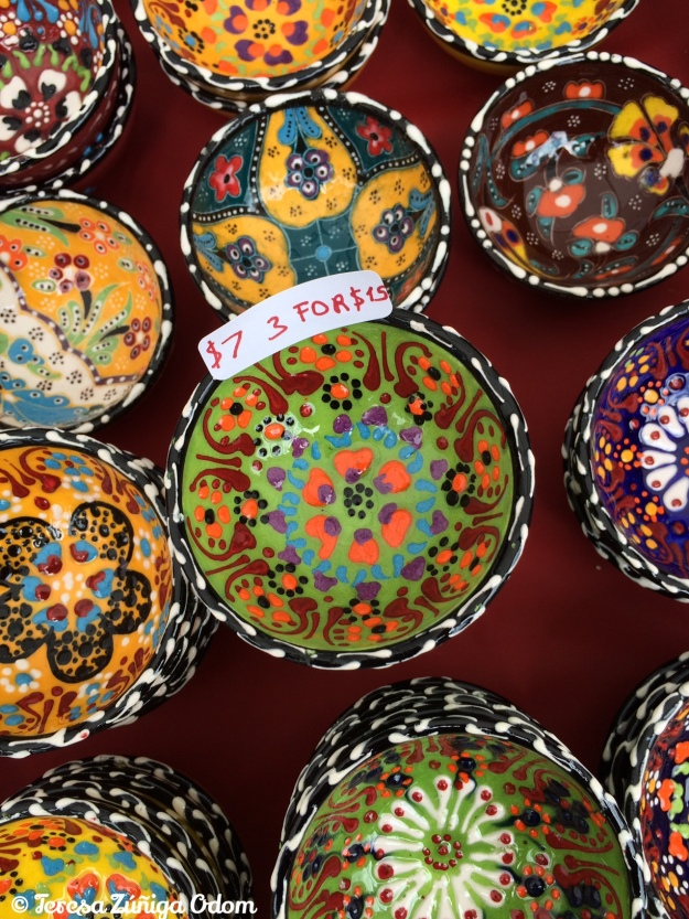 Some of the beautiful hand painted Turkish ceramics.