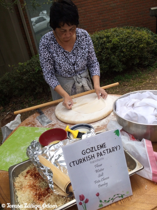 One of the longest lines was for the gozleme - a traditional Turkish flatbread and pastry made with feta cheese. Yum!