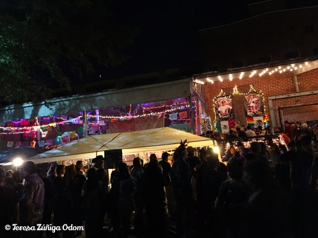 A look at the skyline of Bare Hands Inc.'s Dia de los Muertos festival in its new venue - Cahaba Brewery this year.