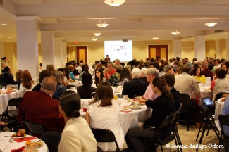 A packed house at Dawson Baptist during the 2010 See More Smiles breakfast.