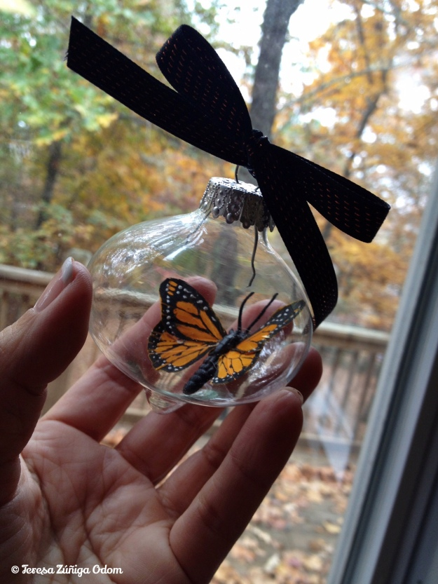 Monarch butterfly ornaments I made for my HICA board of directors a few years ago.