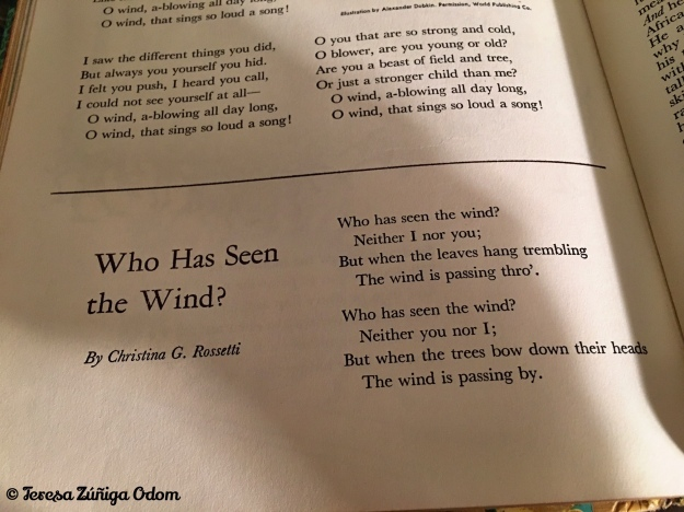 The poem in the book - a short little poem that apparently had quite an impact on me as a child.