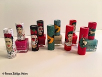 A look at all the colors of Frida Kahlo lipsticks and nailpolishes I found at CVS.