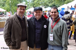 Board member Freddy Rubio (right) with friends Jeff Allison and Michael Kehres