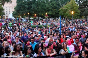 A look at the crowd from the Coca Cola Main Stage at Fiesta 2012