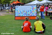 Home Depot built the Birmingham pledge display for us and helped staff the area with paints.