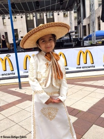 Precious little girl dressed as mariachi
