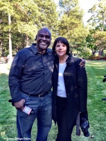 Photo opp with Jeh Jeh Pruitt! I was there to photograph the interviews at Linn Park that day.
