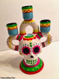 This sugar skull candelabra reminds me of vintage sugar skull creations. This one is from Target.