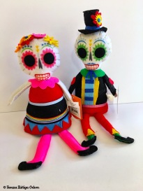 Cute little sugar skull man and woman figures from Target this year!