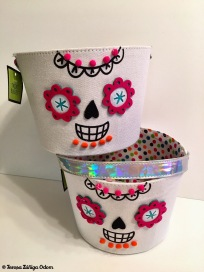 Dollar Spot bargain sugar skull buckets!